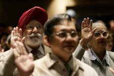 Gurdarshan Gill of India takes oath to become U.S. citizen during ceremony in San Francisco